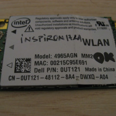 Placa wireless Dell Inspiron 1721, Intel 4965AGN, 0UT121