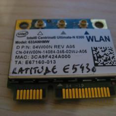 Placa wireless Dell Latitude E5430, Intel Ultimate-N 6300, 633ANHMW, 04W00N
