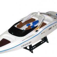 Barca cu Telecomanda MARE 74 cm si Motor Double Horse 7004, Raza Actiune 200m, Scara 1:12 - Accesoriu Bicicleta
