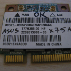 Placa wireless Asus X75a, T77H355.00 HF, RT5390, 0C001-00052200