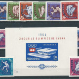 1963 Romania LP 571,LP 571a,LP 572- J.O. Innsbruck(dant.nedant,colita)-MNH, Sport, Nestampilat