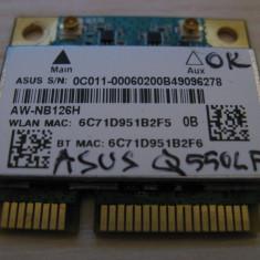 Placa wireless Asus Q550LF, AzureWave AW-NB126H, Atheros AR5B225, 0C011-00060200