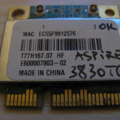 Placa wireless Acer Aspire 3830TG, T77H167.07, AR5B97