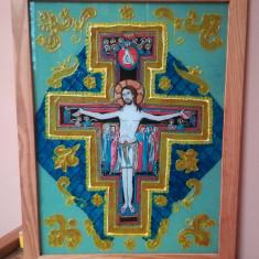 ICOANA PE STICLA - ISUS PE CRUCE -