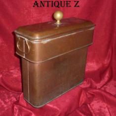 Vas cupru gros/bronz, Victorian, sec 19, daubiere(?) masiv, antic