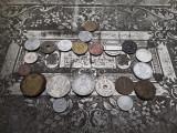 Lot mare de 20 monede  vechi romanesti si straine monezi bani + jeton  GRATIS