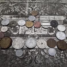 Lot mare de 20 monede vechi romanesti si straine monezi bani + jeton GRATIS - Moneda Romania