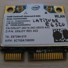 Placa wireless Dell Latitude E6320, Intel Advanced-N 6205, 6205ANHMW, 0X9JDY