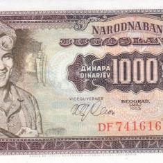 Bancnota Iugoslavia 1.000 Dinari 1963 - P75 UNC