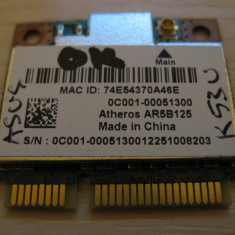 Placa wireless Asus K53U, AR5B125, 0C001-00051300