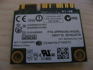 Placa wireless Samsung NP300E7A, Intel Centrino Wireless-N 130, 130BNHMW
