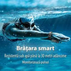 Bratara fitness bluetooth, android, ios, oled 0.96 inch, ip68, sovogue culoare gri Digital Media