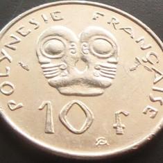 Moneda Exotica 10 Franci - POLINEZIA FRANCEZA (OCEANIA), anul 1991   *cod 2090