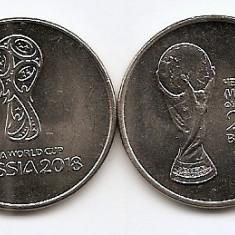 Rusia Set 2 - 2 x 25 Rubles 2018 - 2018 FIFA World Cup Russia, KM-New UNC !!!, Europa