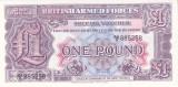 Bancnota Anglia (British Armed Forces) 1 Pound (1948) - PM22 UNC ( Seria 2 )