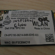 Placa wireless Dell Inspiron 6400, Intel WM3945ABG MOW2, 0PC193