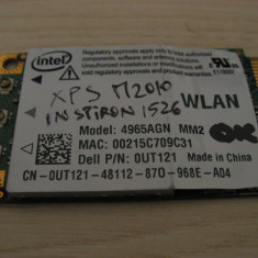 Placa wireless Dell Inspiron 1526, Intel 4965AGN, 0UT121