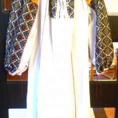 Camase populara cu poale 1 - Costum populare, Marime: XXXXL, Culoare: Alb