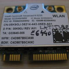 Placa wireless Dell Latitude E6440, Intel Advanced-N 6235, 6235ANHMW, 05K9GJ