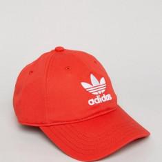 Sapca Adidas Originals Trefoil Rosie - Sapca Barbati Adidas, Marime: Marime universala, Culoare: Rosu