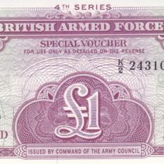 Bancnota Anglia (British Armed Forces) 1 Pound (1962) - PM36 UNC ( Seria 4 )