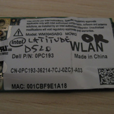 Placa wireless Dell Latitude D520, Intel WM3945ABG MOW2, 0PC193