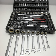 Trusa Scule-MOLLER-Tubulare+Chei/Fixe/Combinate cu CLICHET-116PCS