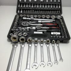 Trusa Scule-MOLLER-Tubulare+Chei/Fixe/Combinate cu CLICHET-116PCS - Cheie mecanica