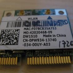 Placa wireless Dell Vostro 1720, DW1510, 0PW934, BCM94322HM8L