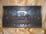 "Sculptura alto-relief, ""Cina cea de taina"", vintage"