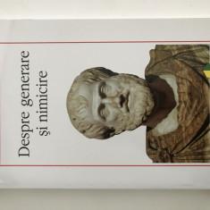 Aristotel - Despre generare si nimicire