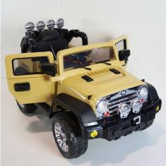 Masinuta Electrica Jeep cu Telecomanda Crem - Masinuta electrica copii