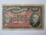 Rara! Argentina 10 Centavos 1895