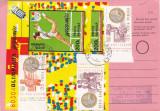 AVIS DE PRIMIRE,FRANCAT CU TIMBRE COLITA NEDANTELATA! 1993,ROMANIA.