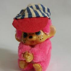 Jucarie plus mascota Monchhichi (kiki, Moncici) roz maimutica maimuta 7cm clema - Jucarii plus