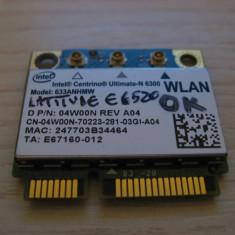Placa wireless Dell Latitude E6520, Intel Ultimate-N 6300, 633ANHMW, 04W00N