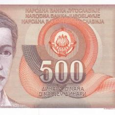 Bancnota Iugoslavia 500 Dinari 1991 - P109 UNC