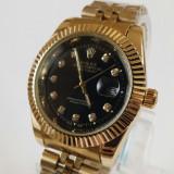 Ceas Rolex Oyster auriu-negru NOU elegant metalic