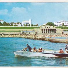 Bnk cp Eforie - La plaja - circulata - Carte Postala Dobrogea dupa 1918, Printata