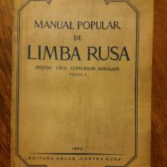 Manual Limba Rusa ciclul I 1952 / R1F