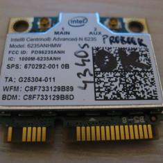 Placa wireless HP ProBook 4340s, Intel Advanced-N 6235, 6235ANHMW, 670292-001