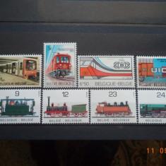 Belgia - Trenuri, locomotive** Lot, serii complete. - Timbre straine, Transporturi, Nestampilat