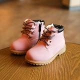 Bocanci roz cizme ghete imblanite perle albe fermoar fete copii bebe 20 21 22 23, Din imagine