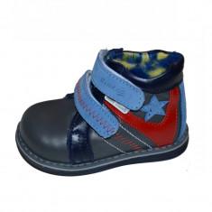 Ghete ortopedice din piele pentru baietei SMALL FOOT SF14 - Ghete copii