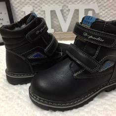 Bocanci imblaniti negri cu scai copii baieti fete D-pulin 31 32 33 34 35 36 - Bocanci copii, Culoare: Din imagine, Piele sintetica