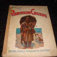 Daniel Defoe - Robinson Crusoe - 1943 - ilustratii a/n si color - Carte educativa