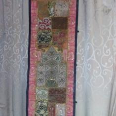 Carpeta Antica Istorica Handmade Kashmar Persană, placa lemn sculptata, T.GRATUIT - Covor vechi