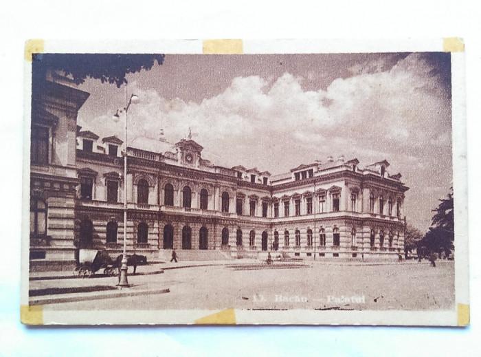BACAU-PALATUL ADMINISTRATIV-CARTE POSTALA ANII 40- foto mare