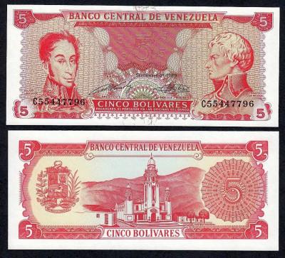 VENEZUELA. 5 BOLIVARES 2007. UNC. foto