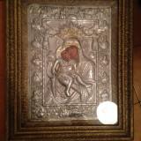 Icoana Mare veche -Maica Domnului si Iisus Hristos - - Tablou autor neidentificat, Natura, Ulei, Realism